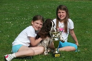 Girls with trophy