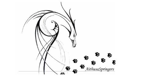 Aithusa Engleski Springer Spanijel Logo